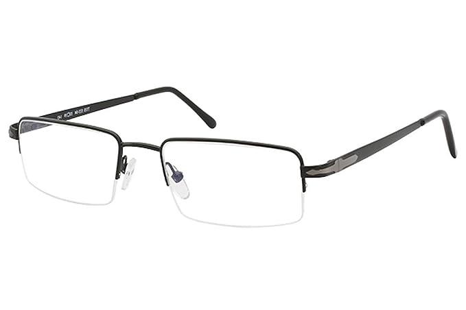 4e5288f27cb Amazon.com  Tuscany Men s Eyeglasses 523 04 Black Half Rim Optical ...
