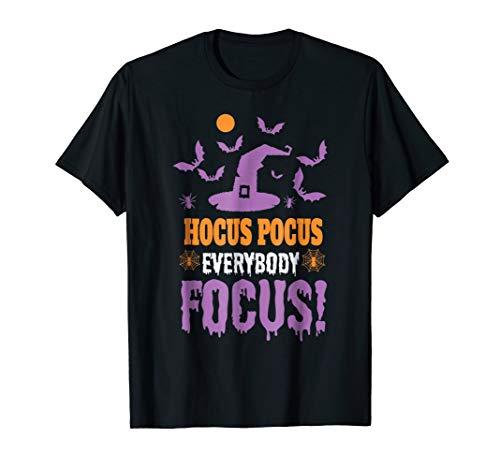 Hocus Pocus Everybody Focus Funny Halloween Witch Hat -