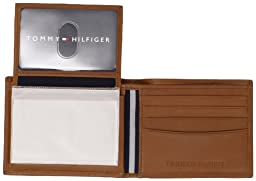 Tommy Hilfiger Men\'s Leather Dore Passcase Billfold Wallet with Removable Card Holder