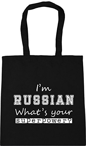 Bag 42cm Tote 10 Gym What's x38cm I'm HippoWarehouse Russian Black Shopping Your litres Superpower Beach wqpHFxgz