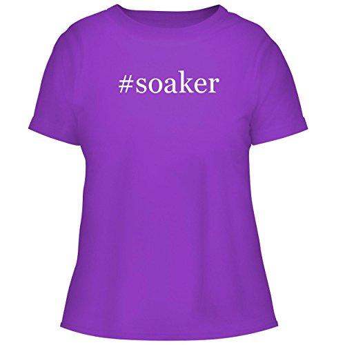 (#Soaker - Cute Women's Graphic Tee, Purple, X-Large)