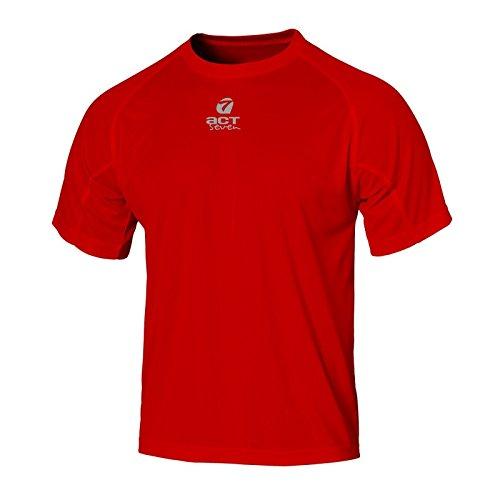 reflectante para Camisa Acto entrenamiento rojo hombre de siete IqXqwn7vH