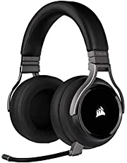 Corsair Virtuoso RGB Wireless Gaming Headset - High-Fidelity 7.1 Surround Sound - Memory Foam Earcups - 20 Hour Battery Life - Carbon