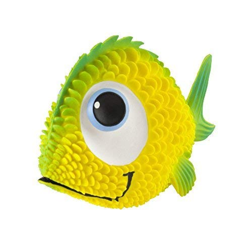 (Sensory Fish Dog Toy.100% Natural Rubber (Latex). Lead-Free & Chemical-Free. Complies to Same Safety Standards as Kids' Toys. Soft, Squeaky. Best Dog Toy for Small-to-Medium Dogs and Blind Dogs)