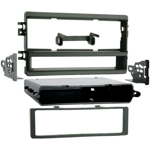 1 - 2002 - 2005 Kia Sedona/2002 - 2004 Kia Spectra Single DIN Installation Kit, Provides pocket with recessed mounting of a DIN radio or an ISO DIN radio using ISO quick-release brackets, Comprehensive instruction manual, 99-1005