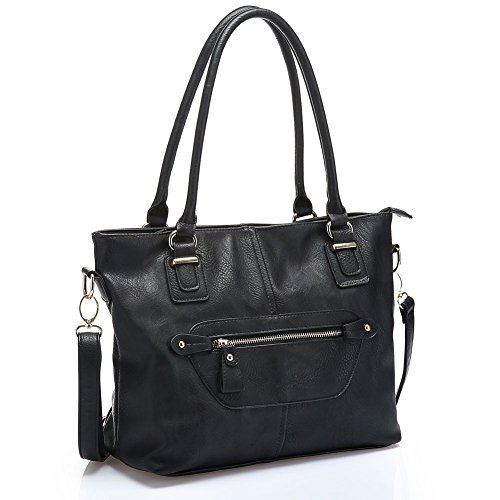 UTAKE Women Handbags Leather Handbags Shoulder Bag PU Leather Bags Tote Bag UT36 Black