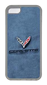 iPhone 5C funda, iPhone 5C casos–resistente a los arañazos–funda transparente para iPhone 5C Chevrolet Corvette coche nuevo Logo 14más delgado Ultra Flexible suave carcasa para iPhone 5C