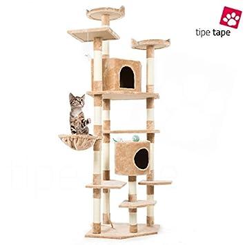 Parque de juegos rascador para gatos, de 203 cm, beige: Amazon.es: Bricolaje y herramientas