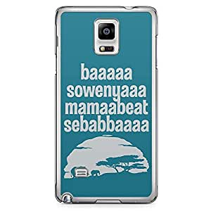 Loud Universe Last Lion King Song Samsung Note 4 Case Blue Design Samsung Note 4 Cover with Transparent Edges