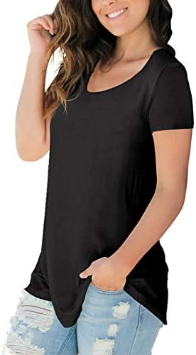 Sousuoty Women St Patricks Day Shirt Short Sleeve Scoop Neck T Shirt Casual Tops