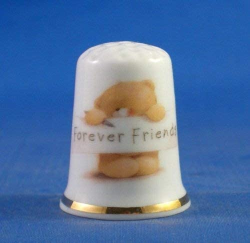 Porcelain China Collectable Thimble Forever Friends Free Gift Box