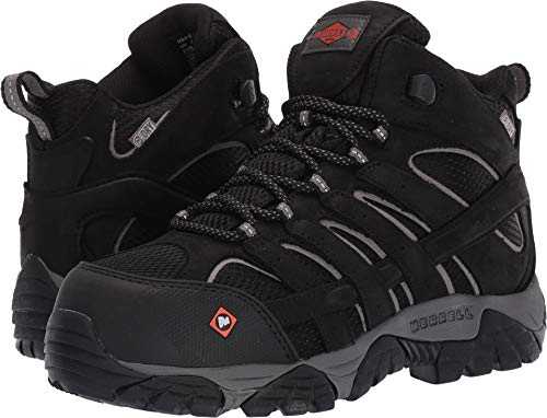 - Merrell Work Women's Moab Vertex Mid Waterproof CT Black 7 M US