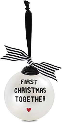 Striped Christmas Ornaments - Pavilion Gift Company 63040 First Christmas Together Glass Ornament, 4-Inch