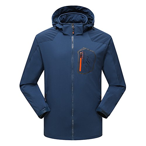 Timeiya Men's Outerwear Mountain Windproof Jacket Hooded Hiking Sportswear Spring