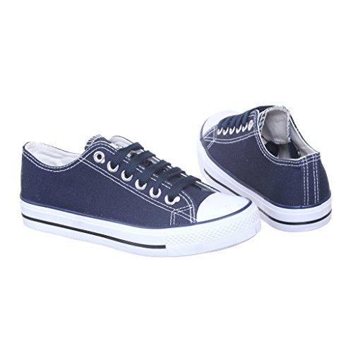 Nieuwe Stijl!! Klassieke Canvas Skate Sneaker Voor Dames, Navy