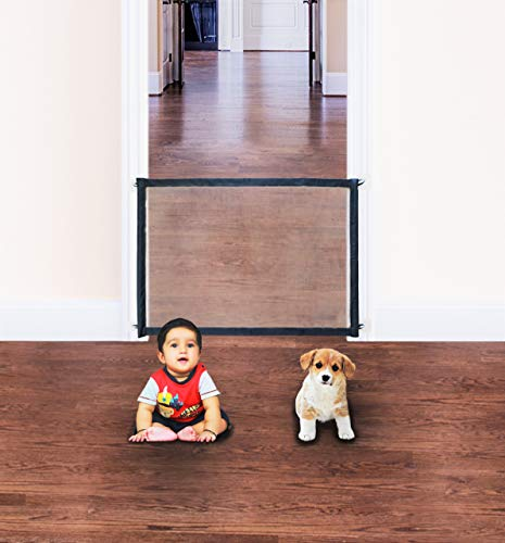 Baby Gate Pet Gate Indoor Portable Dog Safety Fence for Doorway & Stairs 39″X30″