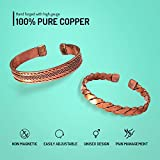 Hand Forged 100% Pure Copper Bracelet ~ Him & Her