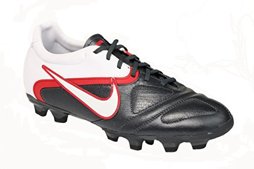 16288a0f1 NIKE Mens Ctr360 Libretto Ii Fg Soccer Shoes Cleats - Black White Red (6.5)