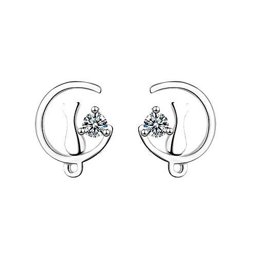 Women Studded Earrings, LIM&Shop Simple Casual Earrings Diamond Hollow Drop Moon Cat Ladies - Underwire Studded