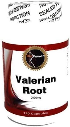 Valerian Root 2000mg Herbal Sleep Formula, 240 Capsules by BioPower Nutrition 2 Bottles