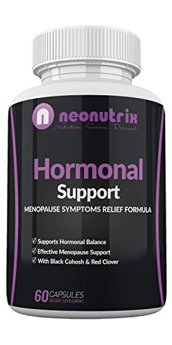 Neonutrix Menopause Relief & Hormonal Support Dietary Supplements with Black Cohosh and Red Clover – Support Hormonal Balance, All-Natural Ingredients – 60 Capsules, Non-GMO, Made in USA For Sale