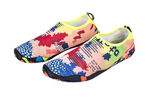 Skin Quick MEWOOCUE Shoes Yellow Water Sport Swim Aqua Yoga Women for Men Beach Shoes Barefoot Dry Socks Surf xSAxw