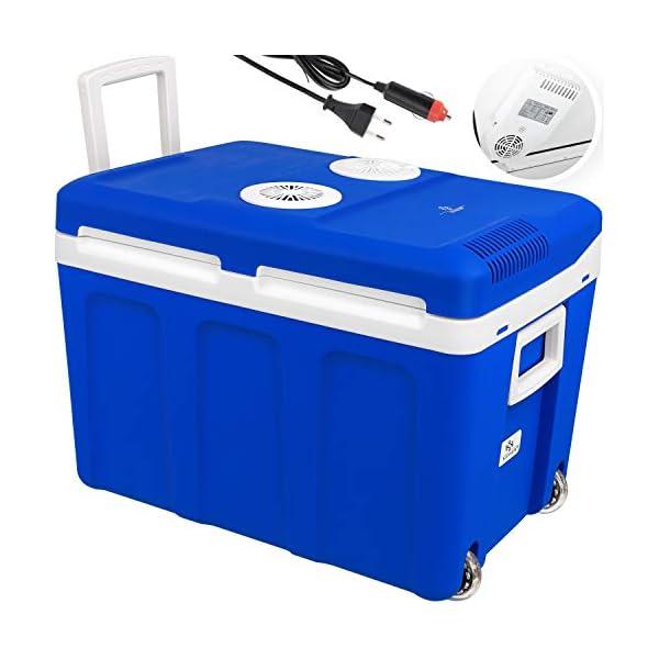 41EYvaf8JBL Kesser® 40L Kühlbox mit Rollen | zum Warmhalten und Kühlen | Thermo-Elektrische Kühlbox | 12 Volt und 230 Volt| Mini…