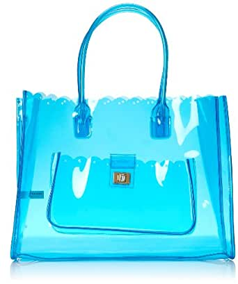 Juicy Couture Silverlake Beach Item Clear Beach Tote,Sky Blue,One Size