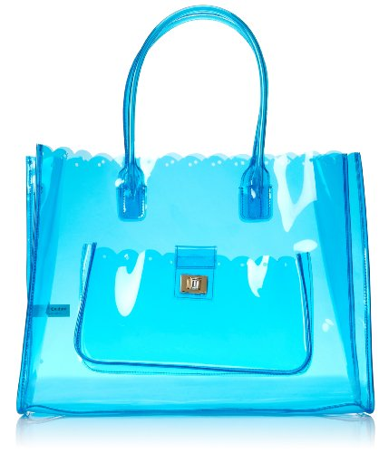 (Juicy Couture Silverlake Item Clear Beach Tote, Sky)