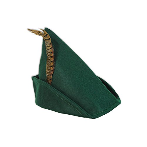 Beistle 60342 Felt Robin Hood Hat, One Size, Multicolor]()