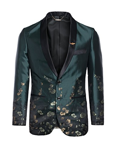 King Formal Wear Men's Premium Fashionable Blazers- Many Colors (Medium, Green #17136) by King Formal Wear