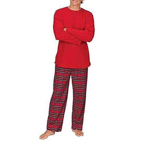 PJs Plaid Baby Famiglia notte Xmas bambini Set Dad da e lunga Hzjundasi biancheria Camicetta Suit Pantaloni per Uomini indumenti Natale da pigiama Manica Vacanza notte da Mom qwYx574