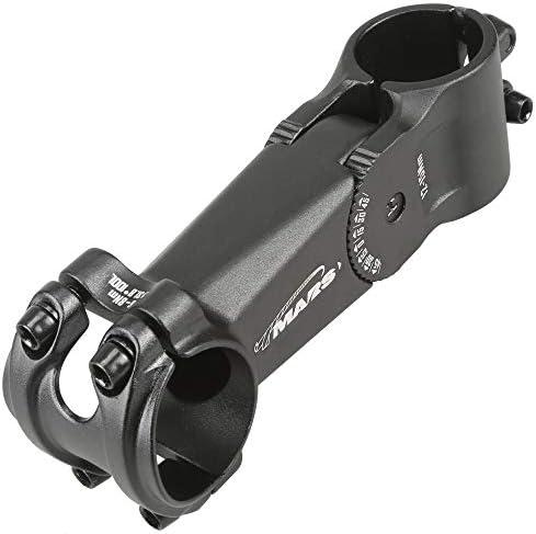 CyclingDeal MTBステム 31.8 100mm 0-45度 調節可能な自転車ステム マウンテンバイクステム ショートハンドルバー 自転車、ロードバイク、MTB、BMX、サイクリング用 (アルミニウム合金、軽量、ブラック)
