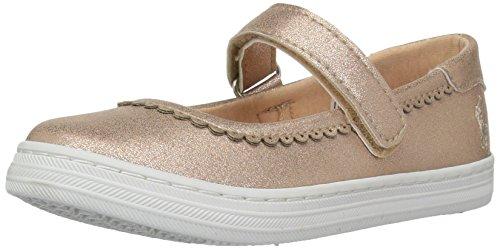 Price comparison product image Polo Ralph Lauren Kids Girls' Pella Sneaker,  Pale Pink Shimmer,  8 Medium US Toddler