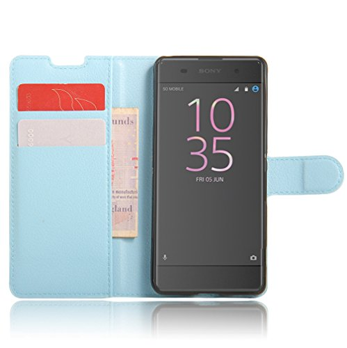 Funda Sony Xperia XA,Manyip Caja del teléfono del cuero,Protector de Pantalla de Slim Case Estilo Billetera con Ranuras para Tarjetas, Soporte Plegable, Cierre Magnético C