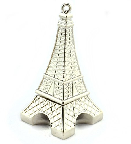 WooTeck 16GB Metal Eiffel Tower USB Flash Drive (Silver) (Eiffel Pendrive Tower)