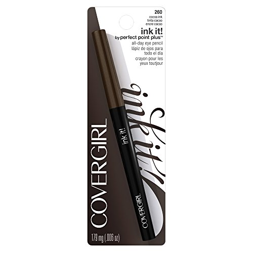 COVERGIRL Ink It! By Perfect Point Plus Waterproof Eyeliner Cocoa Ink 260, .006 oz
