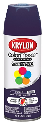 Krylon K05191307 ColorMaster Paint + Primer, Gloss, Purple, 12 oz.