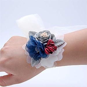 MOJUN Wedding Corsage Bride Bridal Bridemaids Rose Hand Flower Wedding Prom Party Accessories 95