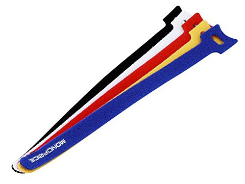Monoprice 106488 9-Inch Hook and Loop Fastening Cable Ties,