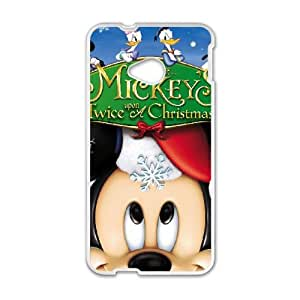 HTC One M7 Cell Phone Case White Mickey's Twice Upon a Christmas D2285267