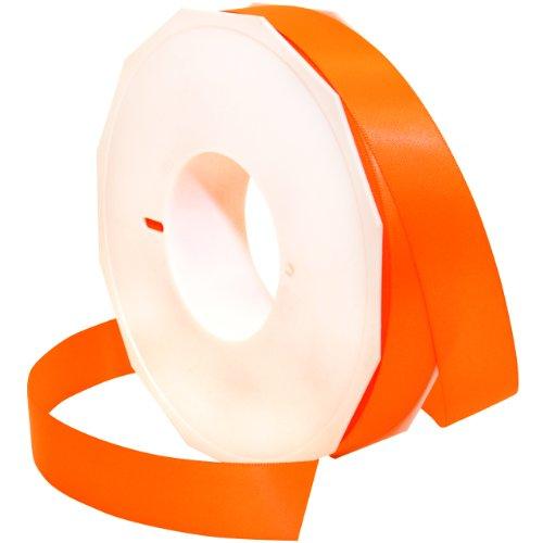 Morex Ribbon Neon Brights Satin, 7/8-inch by 50-yard, Neon Tangerine