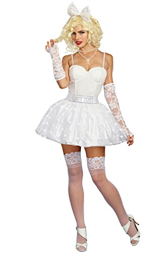Dreamgirl Women's Boy Toy Babe, White, L for $<!--$54.60-->