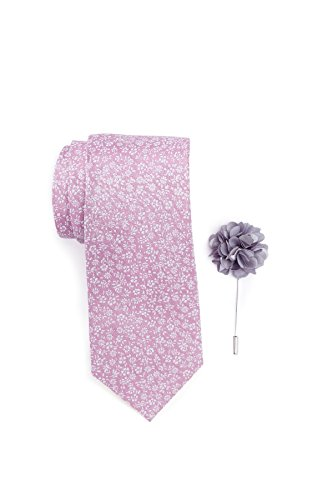 Ben Sherman Park Floral Tie, Pocket Square, & Lapel Stick Pin Set