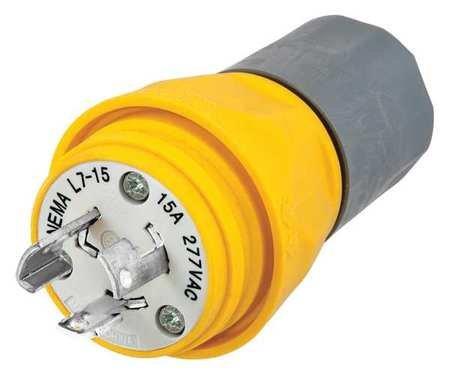 2p 3w Plug 15p (15A Watertight Locking Plug 2P 3W 277VAC L7-15P YL)
