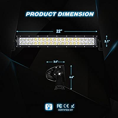 Nilight 22Inch 120W Spot Flood Combo Led Light Bar 2PCS 4Inch 18W Flood LED Pods Fog Lights with 16AWG Wiring Harness Kit-2 Leads,2 Years Warranty: Automotive