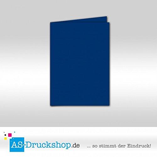 Faltkarte Doppelkarte - Royalblau 50 Stück DIN A5 A5 A5 B0795351QL | Moderate Kosten  01165f