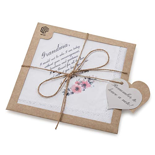Wedding Gift Handkerchief for Grandmother Of The Bride | Grandma Gift