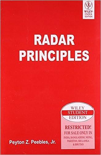 Book Radar Principles by PEYTON Z. PEEBLES (2007-07-31)