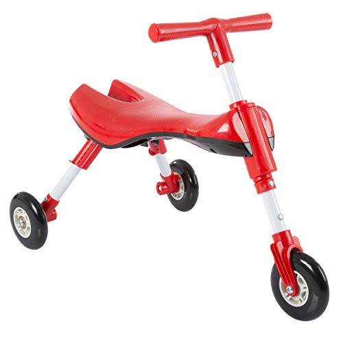 (Lil' Rider Glide Tricycle- Trike Ride On Toy with No Assembly, Foldable Design, Indoor Outdoor Wheels for Toddlers Learning to Walk, Balance)